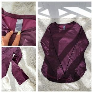 Purple Champion Long Sleeve Pull On  Shirt